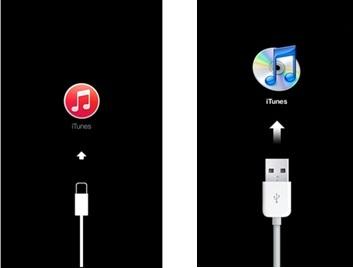 ジェイルブレイク(脱獄)したiPhoneにAppleのロゴが付いている場合